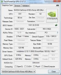 MSI NF405 GPUZ